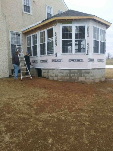 Sunroom addition in Chester Springs