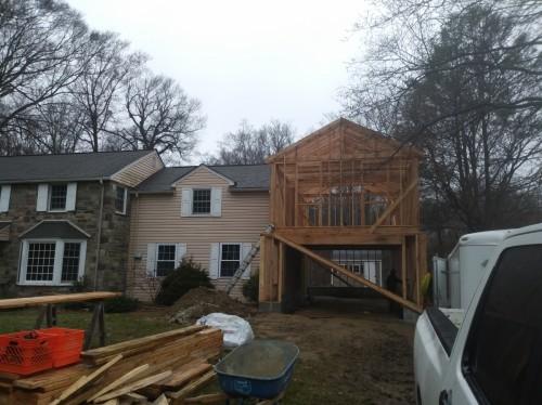 Garage addition in Gladwyn